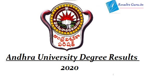 Andhra University Degree Results 2020