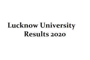 lucknow university results 2020