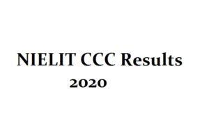 NIELIT CCC Result 2020