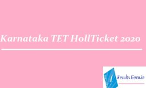 Karnataka TET Hall Ticket 2020