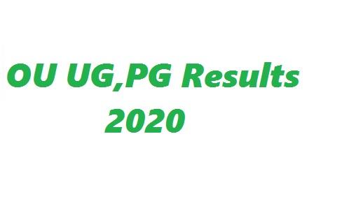 ou ug,pg Results 2020