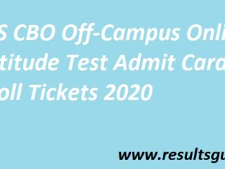 TCS CBO Off-Campus Online Aptitude Test Admit Card /Holl Tickets 2020